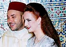 King Mohammed VI and Princess Salma